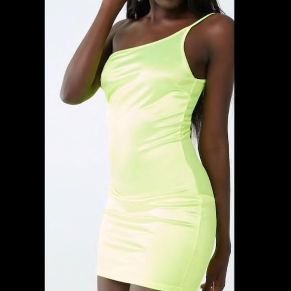 Forever 21 Dresses & Skirts - Neon green dress from forever 21